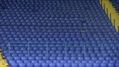 Rows For Football Fans At Stadium With Chairs  Stock Footage