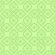 Green Ornamental Seamless Line Pattern Stock Illustration