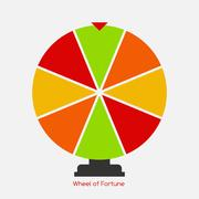 Wheel of Fortune, Lucky Icon. Vector Illustration Stock Illustration