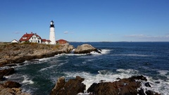 Portland Head Lighthouse Maine Stock Footage