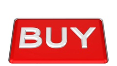 Concept: Button with word Buy move down and move up. 3D rendering. Stock Footage