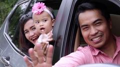 Happy Asian Family Stock Footage