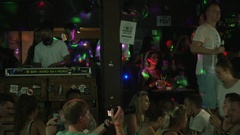 DJ Spins on Khao San Road Stock Footage