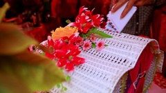 People Put Money Presents into Special Box at Wedding Party Stock Footage