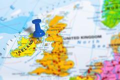 Belfast Ireland map Stock Photos