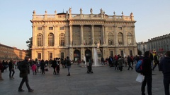 Madama Palace in Turin Italy Stock Footage