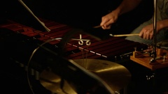 Xylophone and Percussion Player Stock Footage