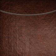 Texture of brown leather background with stitched seam, close-up Stock Illustration