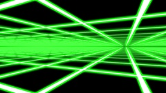 Green Disco Plane Grid Rays Retro Abstract Psychedelic Motion Background Loop 4 Stock Footage