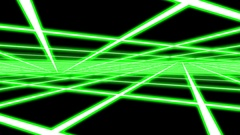 Green Disco Plane Grid Rays Retro Abstract Psychedelic Motion Background Loop 2 Stock Footage