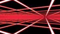 Red Disco Plane Grid Rays Retro Abstract Psychedelic Motion Background Loop 4 Stock Footage