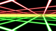 Color Disco Plane Grid Rays Retro Abstract Psychedelic Motion Background Loop 1 Stock Footage