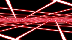 Red Disco Plane Grid Rays Retro Abstract Psychedelic Motion Background Loop 2 Stock Footage