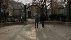 Old park in Budapest city Stock Footage