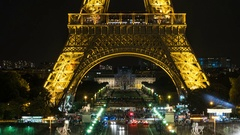 Eiffel and Champ de Mars Time-lapse Stock Footage