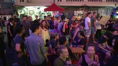 Khao San Road Street Party Stock Footage