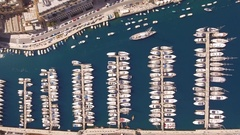 Aerial Drone Footage Of Boats Moored At Marina Drone Malta Travel Harbor Tourism Stock Footage