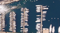 Drone Footage Of Boats Moored At Marina Malta Travel Harbor Tourism Town Marine Stock Footage