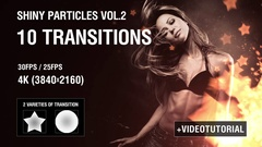 4K Shiny Particles Transition vol.2 Stock After Effects