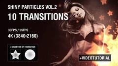 4K Shiny Particles Transition vol.2 Kuvapankki erikoistehosteet