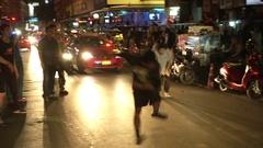 Break Dancers in Bangkok Stock Footage