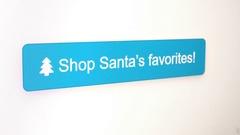 Santa Shopping Button mouse click Stock Footage