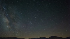 Astro Timelapse of Milky Way over Native American Rock Art -Sky Only- Stock Footage