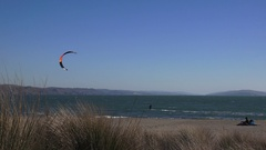 Wind surfer, Bodega Bay, bright colors Stock Footage