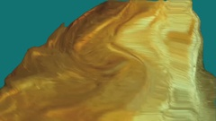 Large piece of gold melting chroma key Stock Footage