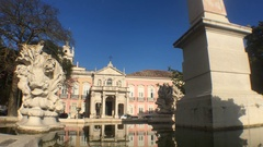 Palacio das Necessidades In Lisbon, Portugal Stock Footage