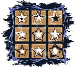 Set different stars Stock Illustration