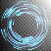 Glowing Blue rings trace. EPS 10 Stock Illustration