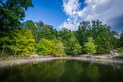 Lake Wylie, at McDowell Nature Preserve, in Charlotte, North Carolina. Stock Photos