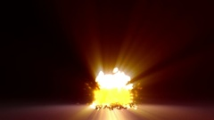 Atomic bomb explosion animation Stock Footage
