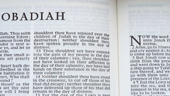 Obadiah (Book Of The Bible) Stock Footage
