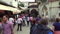 Tourists in Safranbolu Stock Footage