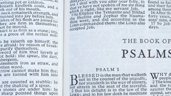 The Book Of Psalms Stock Footage