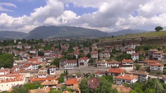 Panoramic view of the town of Safranbolu Stock Footage
