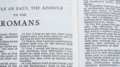 The Epistle Of Paul The Apostle To The Romans Stock Footage