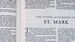 The Gospel According To St.Mark Stock Footage