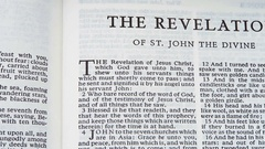 The Revelation (Book Of The Bible) Stock Footage
