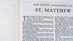 The Gospel According To St  Matthew Stock Footage