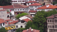 View of the old historic houses in Safranbolu Stock Footage