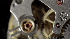 Watch mechanism, clockwork macro. Stock Footage