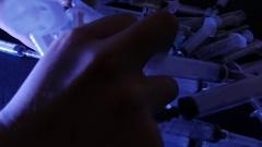 Syringes. Drug addiction concept. 4K UHD Stock Footage