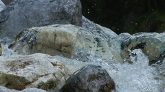 A small river in a good place...on Tuscany Alps in Italy Stock Footage