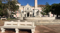 Largo das Necessidades And Palace In Lisbon, Portugal Stock Footage
