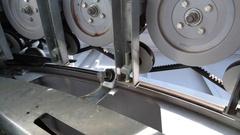 Mechanism of ski lift Stock Footage