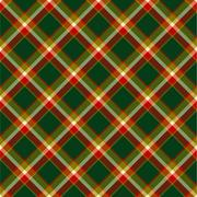 Seamless christmas tartan pattern Stock Illustration