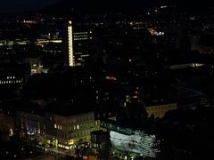 Schlossberg Graz Austria sunset Stock Footage